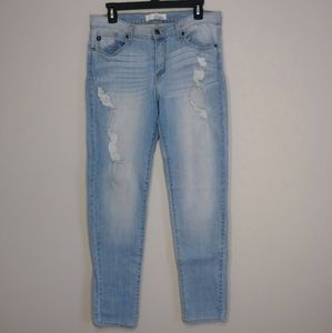 KanCan Light Wash Distressed Jeans Size 11